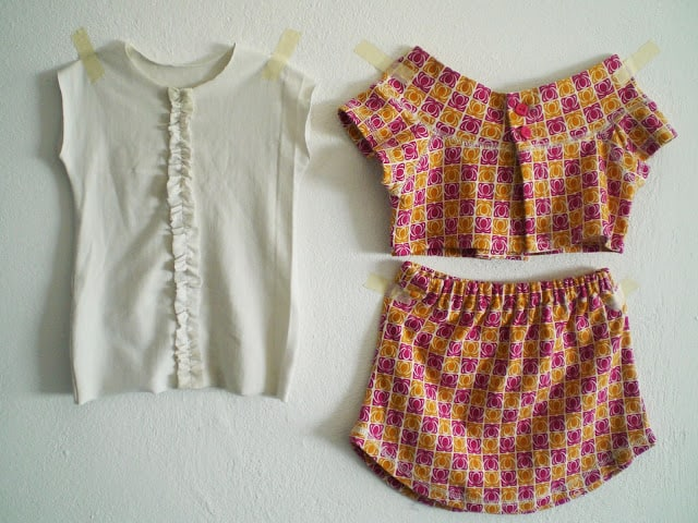 Skirt and top from old t-shirts / Falda y blousa con viejas playeras