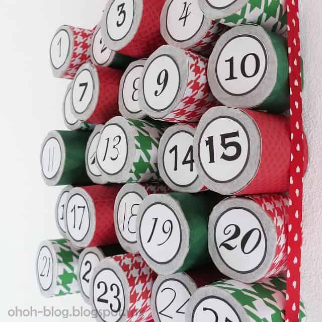 DIY Cardboard roll Advent Calendar