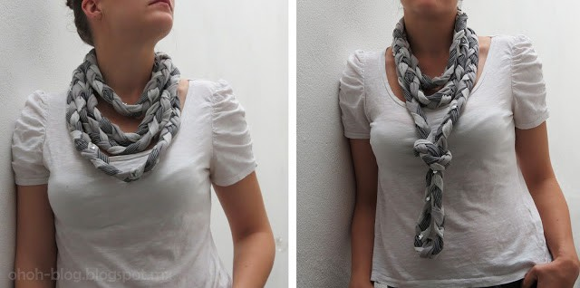how to sew a braided scarf