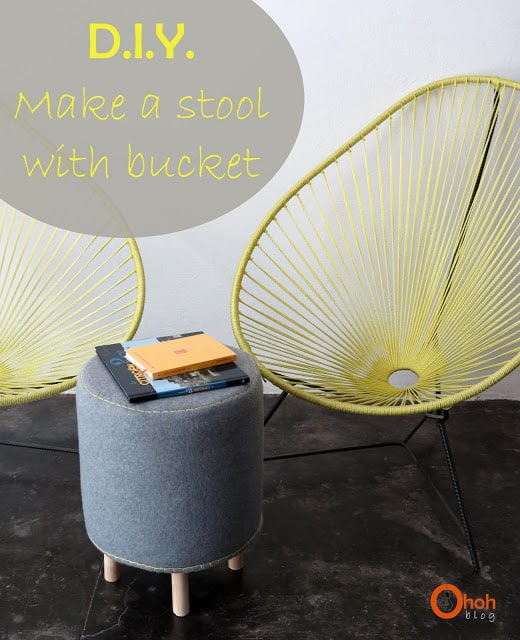 DIY Make a stool with bucket #1