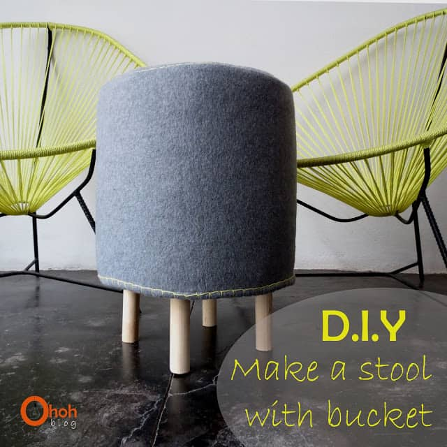 DIY Make a stool with bucket #2