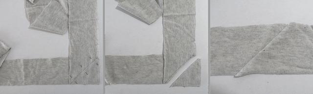 sew strips to make a scarf