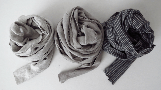 jersey strip to make braided scarf