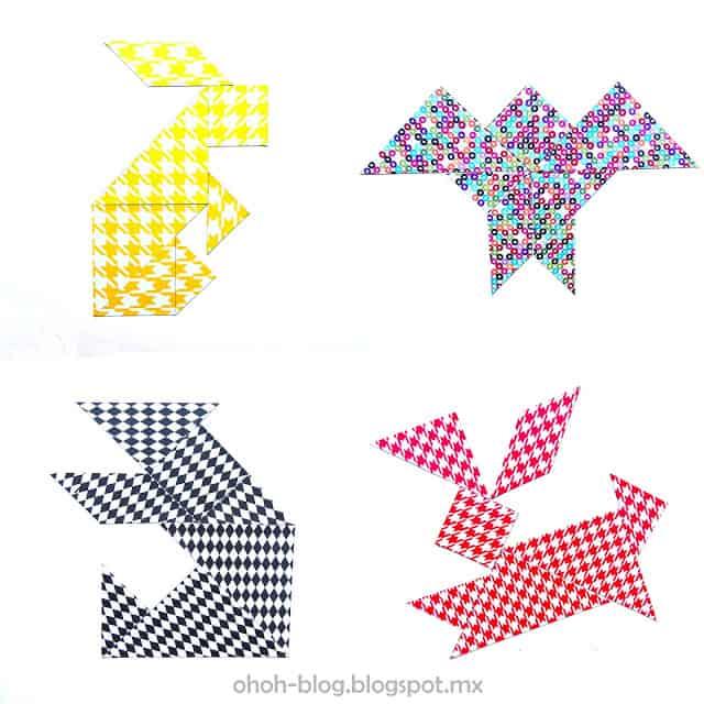 DIY tangram game