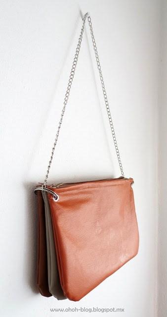 sew leather purse