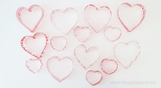 plastic bottle hearts