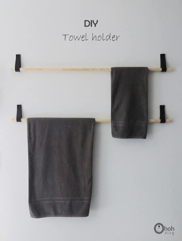 Diy Towel Holder Ohoh Deco