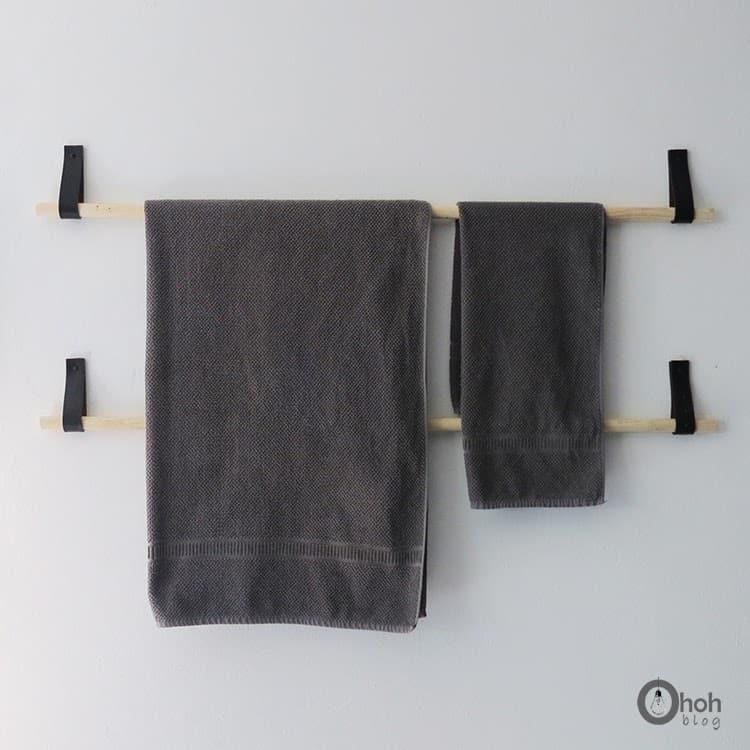 homemade towel holder diy