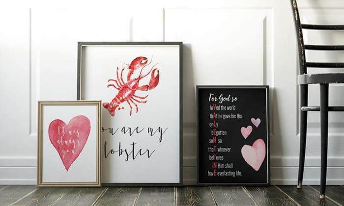 valentine free wall print