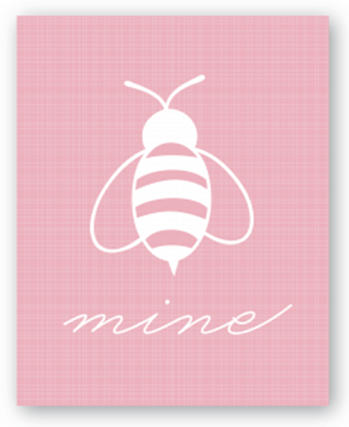 bee mine free valentine's card