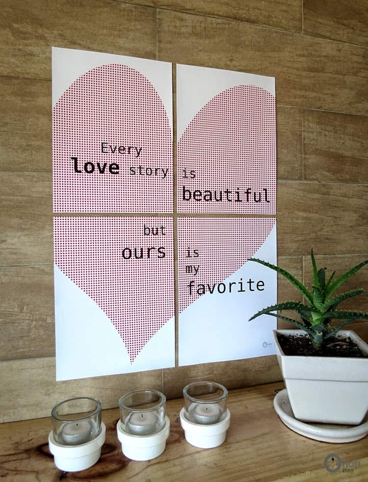 free valentine's wall decor