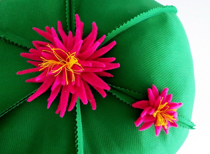 siy cactus felt flowers