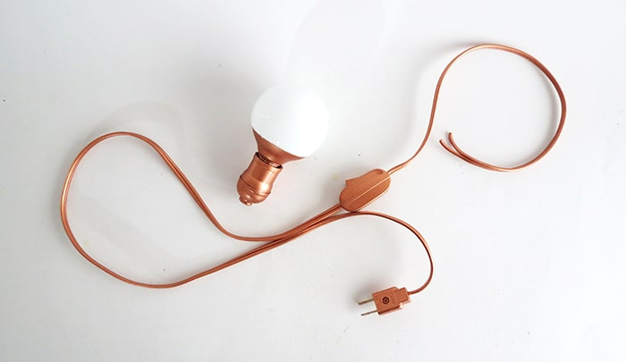 electric supplies for the diy lamp
