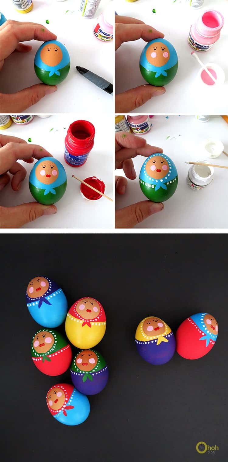 paint babushka eggs