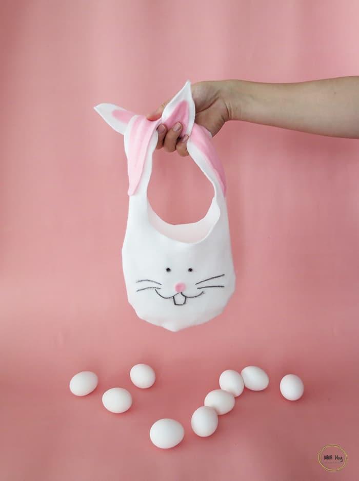 how to make easter bunny bag