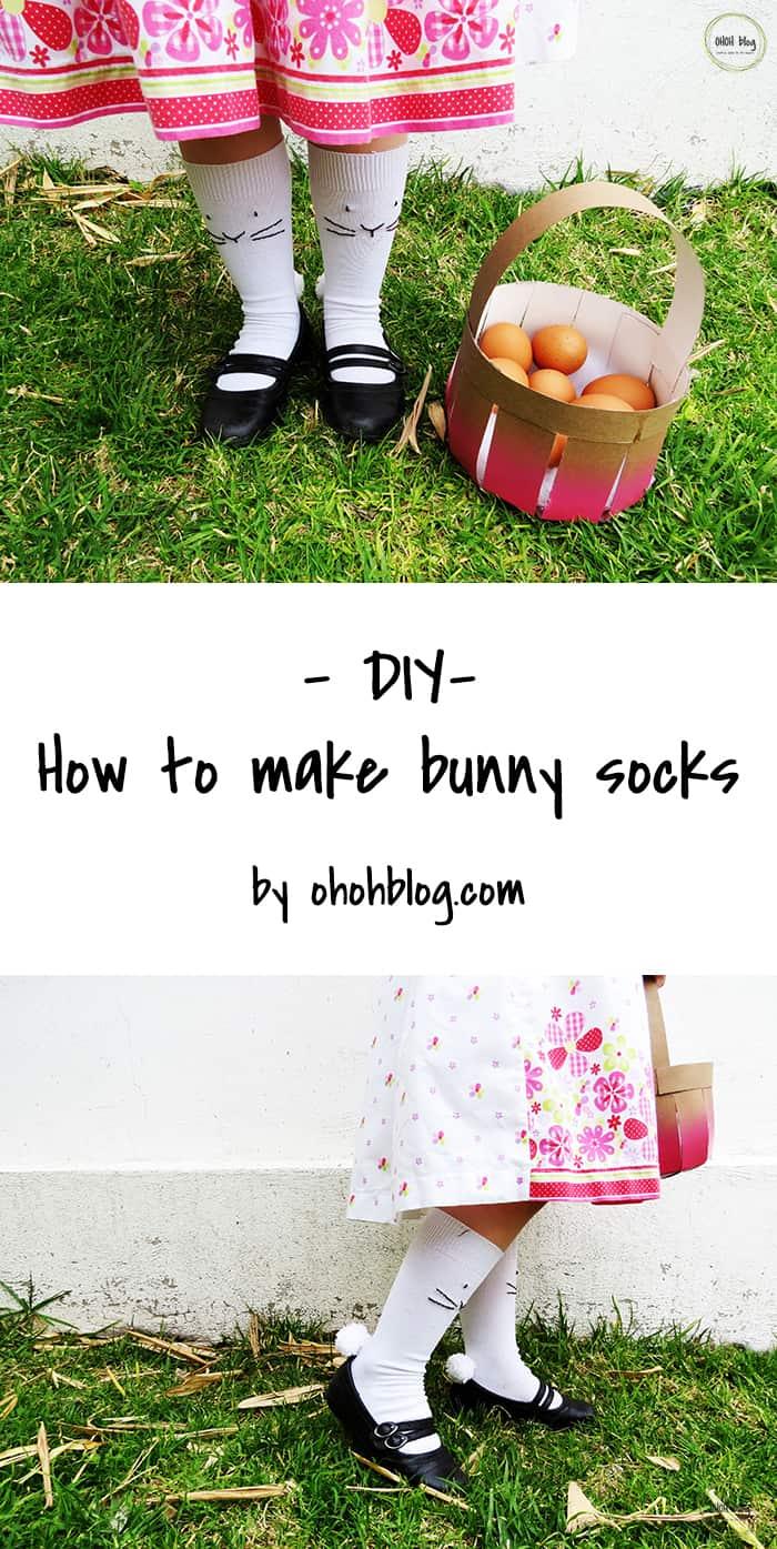 make easter bunny socks