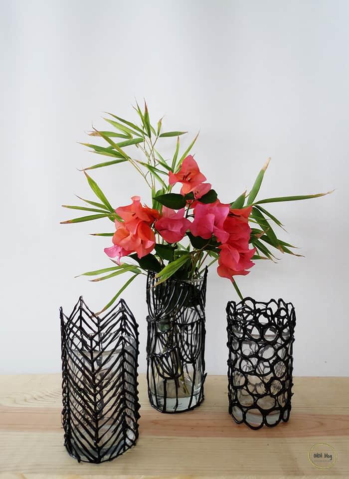 customized glass flower vase