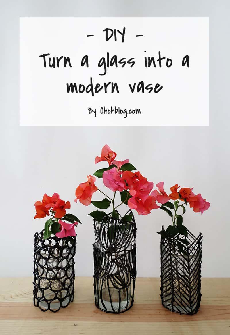 diy modern flower vase