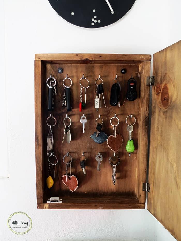 diy key box inside