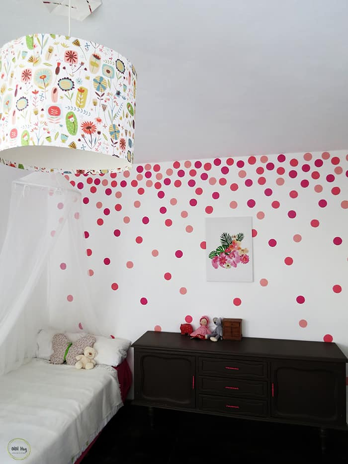 How To Paint A Polka Dots Wall Ohoh Deco