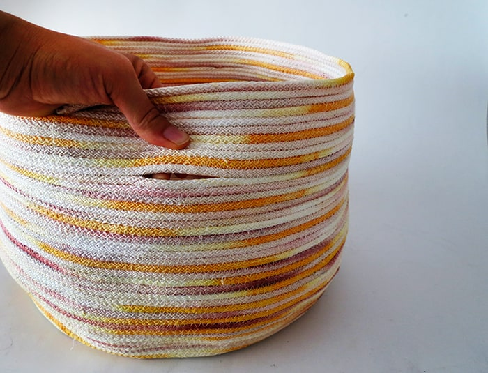 fixing holes in rope basket