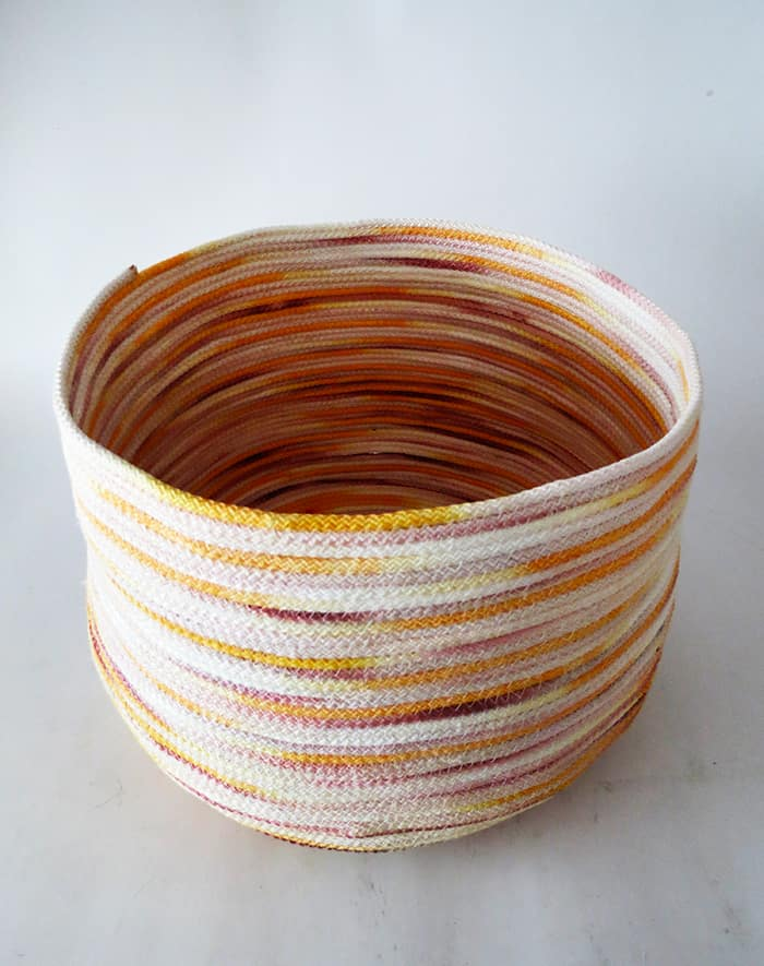 how to sew rope basket