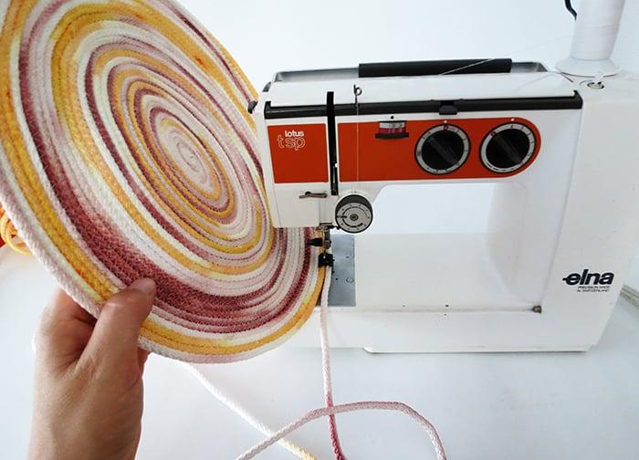 sewing rope basket