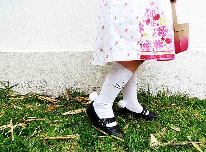 make bunny socks for kids