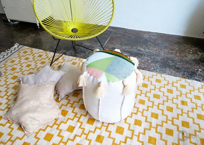 homemade floor pouf