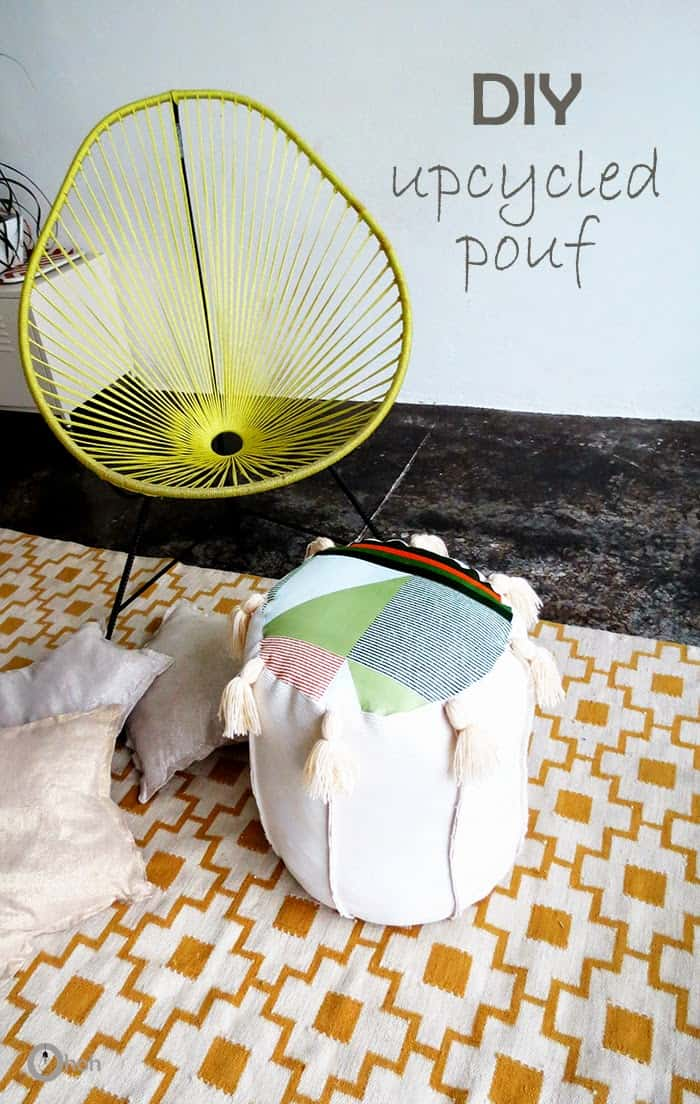 diy upcycled pouf