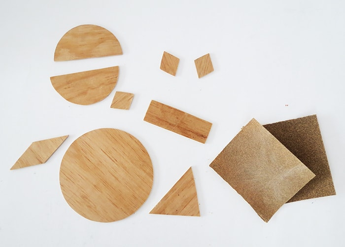 wood pieces to make wall art