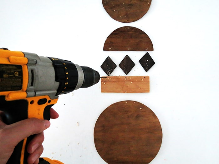 drill to make wall art