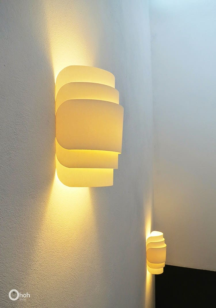 make a paper wall lamp