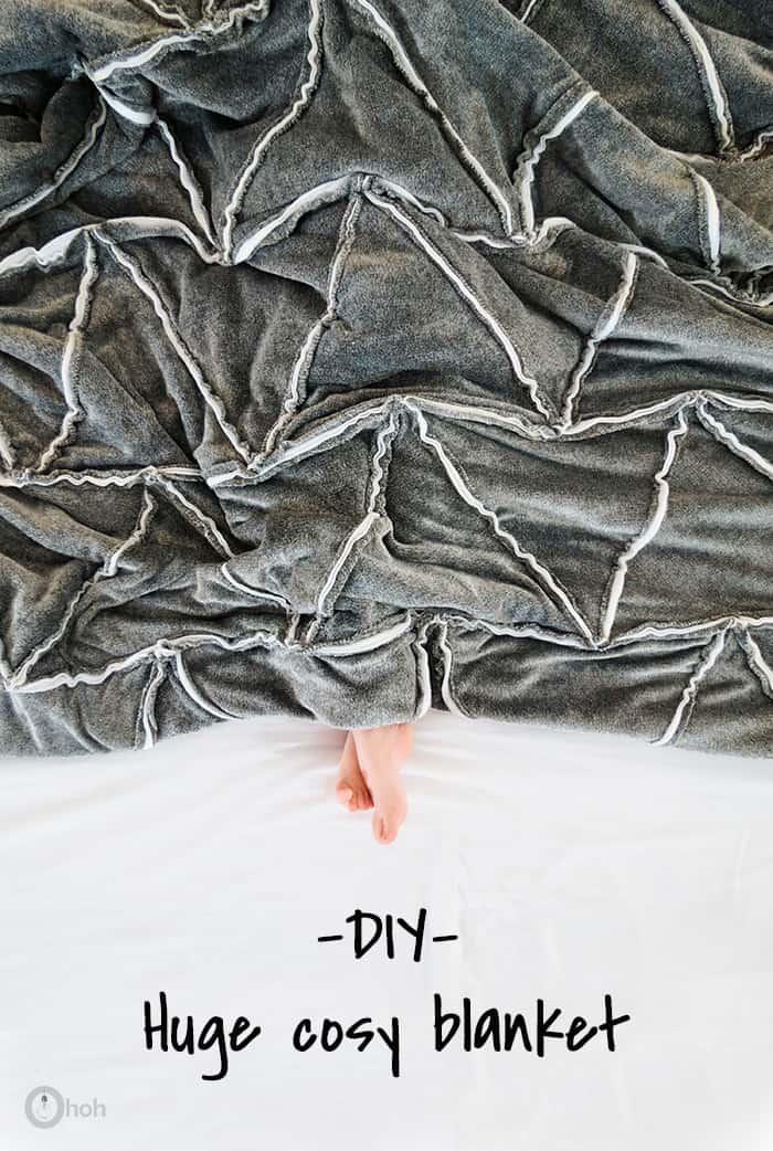 sew huge fleece blanket