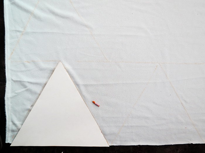 triangle template for blanket