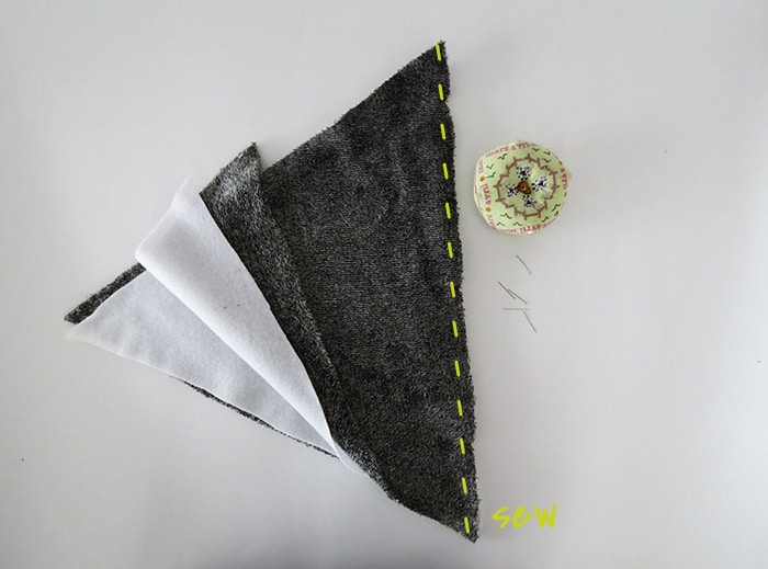 sewing blanket pieces