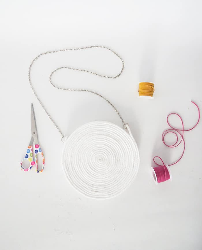 DIY rope purse