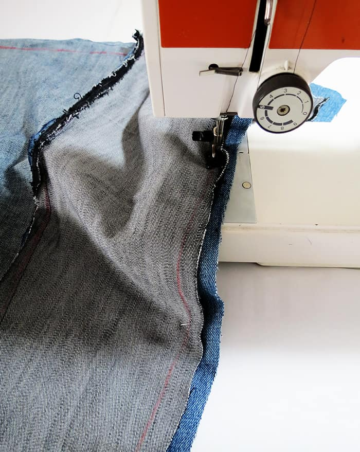sew demin to make a rug