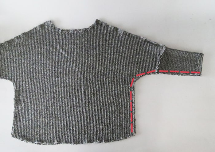 sew sweater with knit fabric