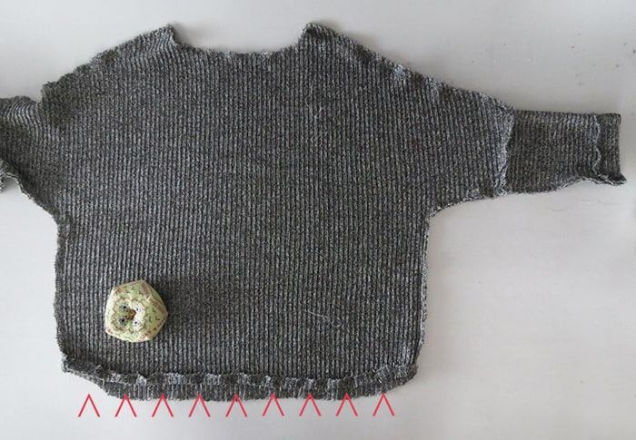 sewing sweater bottom
