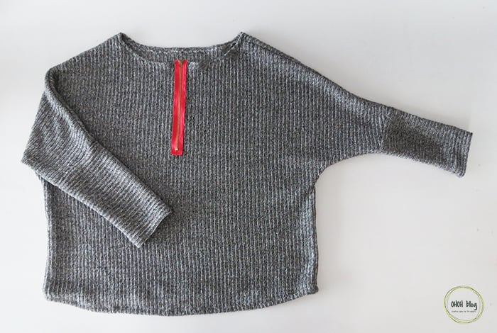 diy sweater with knit fabric