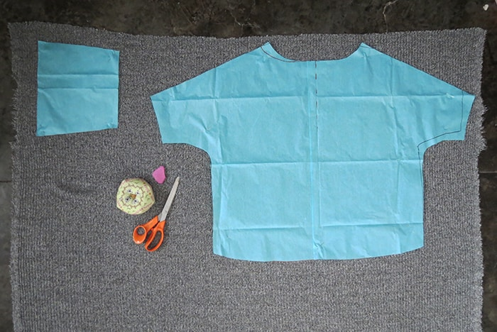 repart sweater pattern on knit fabric