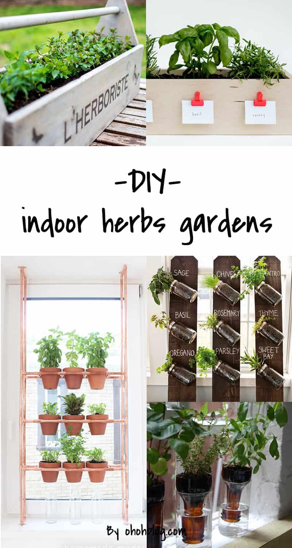 diy indoor herbs garden ideas