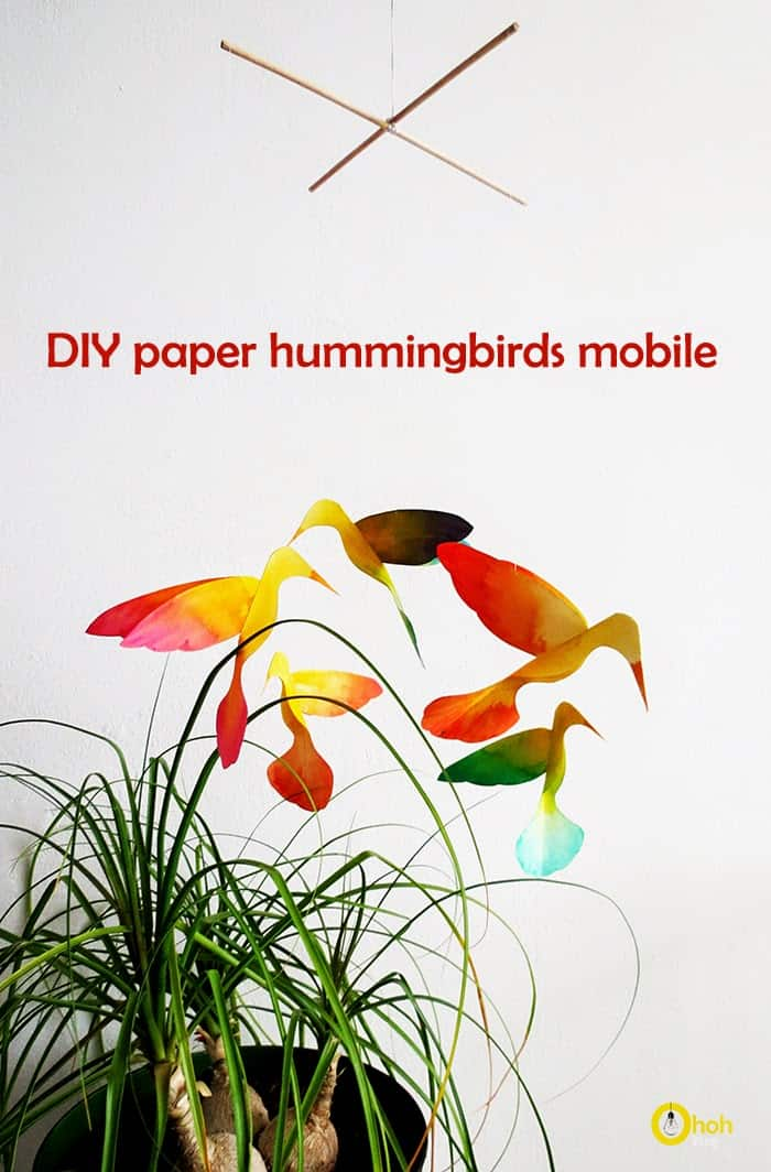 how to make hummingbird with paper
