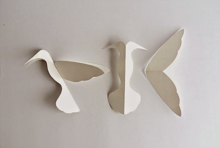 paper hummingbird template